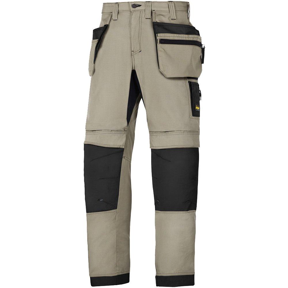Snickers 62062004054 Size 54 Litework 37.5 Work Trousers Khaki//Black