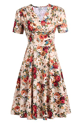 Meaneor Womens Sleeve Vintage Cocktail
