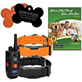 Dogtra ARC Remote Trainer with Free E-Book© and Personalized Bone Shaped Dog Tags (2 Dog System)
