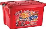 Multi Purpose Kids Toy Storage Box - Plastic (25 Ltr. Red) (NY-001545-TYBX25L-RD)