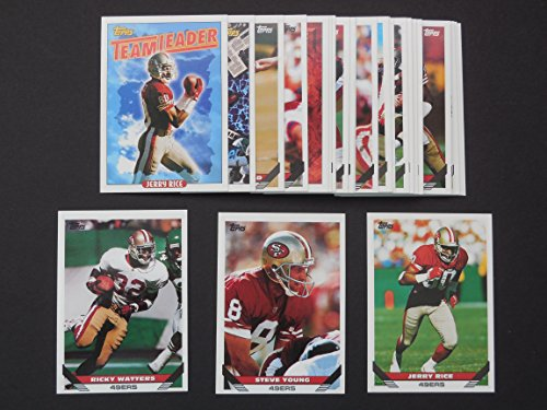 san-francisco-49ers-1993-topps-football-team-set-26-cards-steve-bono-eric-davis-kevin-fagan-roy-fost