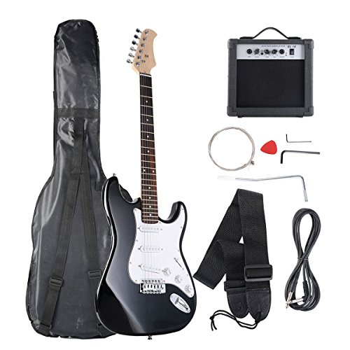 BLack one Full Size Electric Guitar with Strap Guitar Bag Amp Cord New 168 Store by Goplus