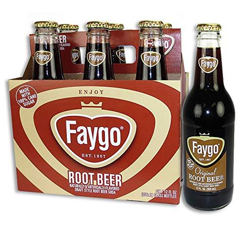 Faygo Soda - 6 Pack 12oz Glass Bottles (Root Beer)