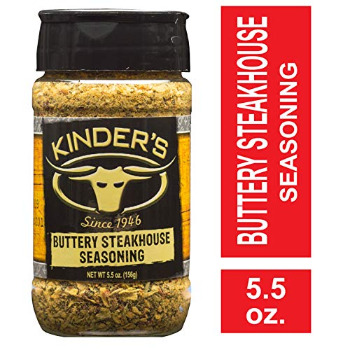 Kinder's Buttery Steakhouse Seasoning, 5.5 oz; Taste of Melted Butter Over Steak; Generously Rub Over Chicken, Pork, Beef, Fish or Any Meat for Great, Hearty Flavor the Whole Family Loves (Best Bottled Bbq Sauce For Brisket)