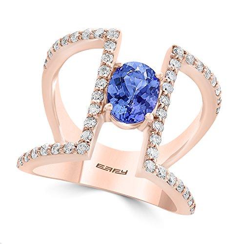 Effy Tanzanite Royale 14K Rose Gold Tanzanite & Diamond Ring, 1.73 TCW ()