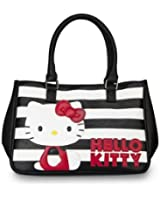 Hello Kitty Black/White Stripe with Red Kitty Satchel,Shoulder Bag