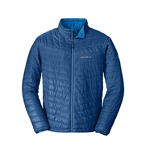 Eddie Bauer Men's IgniteLite Reversible Jacket, Blue Tall M by Eddie Bauer