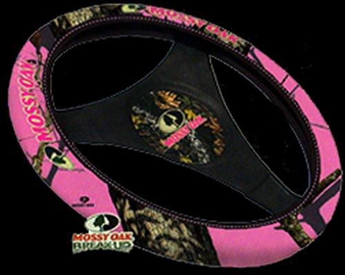 Mossy Oak Neoprene Steering Wheel Cover (Mossy Oak Pink Break-Up Camouflage, Sold Individually)
