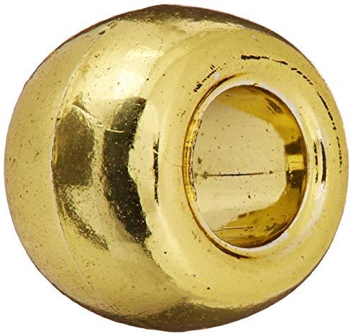 Darice®Pony Beads - Acrylic - Metallic Gold - 9mm - 65 pieces