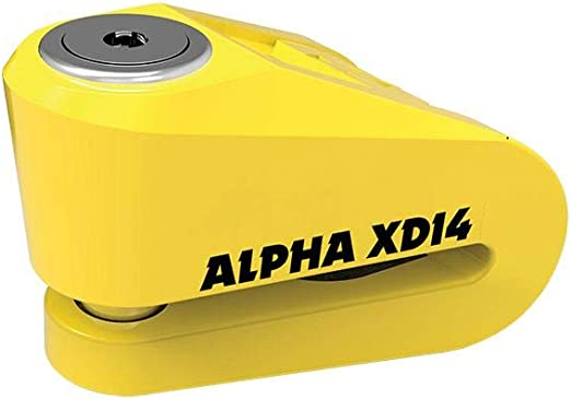 Oxford Alpha XD14 Stainless Disc Lock LK276 Yellow 14 mm Pin