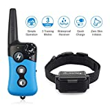 Petrainer PET619A-1 Dog Training Collar Rechargeable Dog Bark Collar Waterproof Dog Shock Collar with Remote Beep Vibration Electric Shock Collar for Dogs Small Medium Large