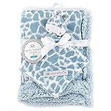 Blue / White BLANKET & GIRAFFE Security Blanket Petite l'amour