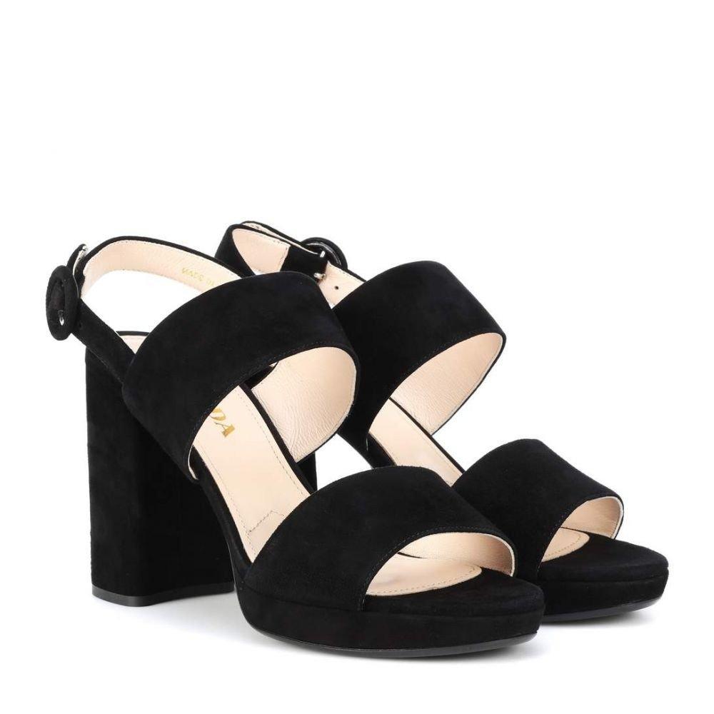 (プラダ) Prada レディース シューズ靴 サンダルミュール Suede sandals [並行輸入品] B07FNR8X4S 41/JP28