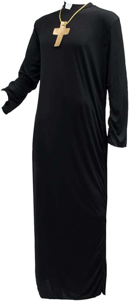 Amazon.com: PRAYERFUL Sacerdote de los hombres – Disfraz ...
