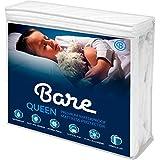 Bare Home Queen Size Premium Mattress Protector - 100% Waterproof - Vinyl Free Hypoallergenic - 10 Year Warranty - (Queen, White)