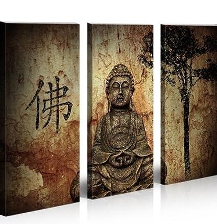 Buddha V10 3 Quadri moderni su tela - pronti da appendere - montata ...