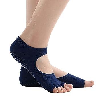Liuxc Calcetines de yoga Señoras Calcetines de Cinco Dedos, los pies Desnudos, Dedo del