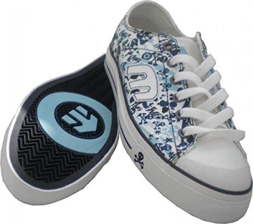 Etnies Schuhe Bernie White/Blue Skulls EU 37.5