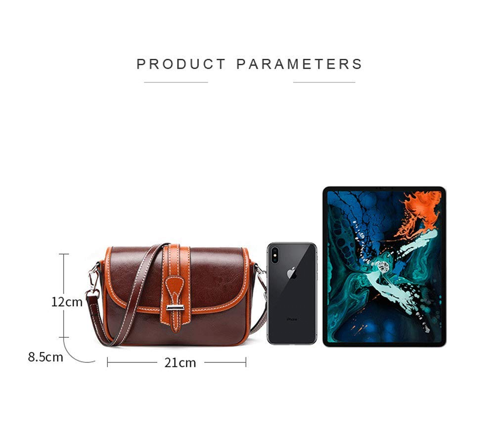 Amazon.com: Bolso de hombro para Mujer - Bolso de Cuero de Moda Bolso Diagonal Personalidad Bandolera Contraste Bolso cuadrado pequeño Impermeable Ladrón ...