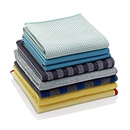 E-Cloth Home Cleaning Set, Reusable Microfiber Cleaning Cloths, 300 Wash Guarantee, Assorted Colors, 8 Piece Set