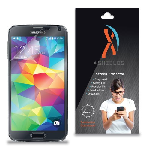 (XShields© (5-Pack) Screen Protectors for Samsung Galaxy S5 (Ultra Clear) )