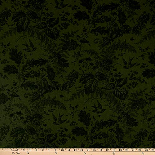 - Andover Evergreen Toile Evergreen Fabric by The Yard