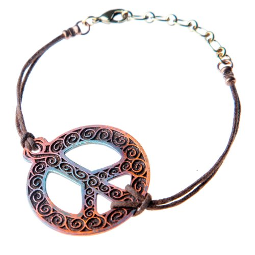 Filigree Iridescent Peace Symbol Bracelet by From War to Peace