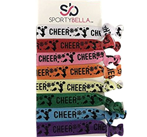 Infinity Collection Cheer Hair Ties- Girls Cheer Hair Accessories- Cheerleading Elastics For Cheerleaders & Cheer Teams]()