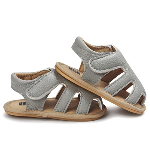 zapatos bebe niña verano Switchali Recién nacido nina primeros pasos zapatos bebe con suela floral princesa Zapatos moda Al aire libre sandalias de niña fiesta baratos Gris