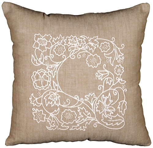 Tobin DW3011 Romance Vine Candlewicking Kit, 14 by 14-Inch - Pillow Candlewicking Embroidery Kit