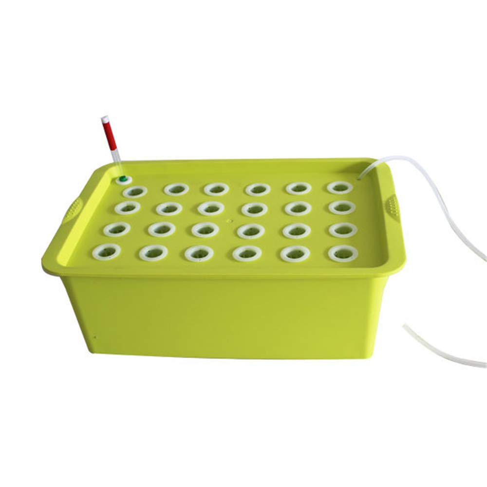 24Holes Hydroponics Grower Kit,Propagation, and Hydroponic Experiment Indoor Outdoor (Yellow)