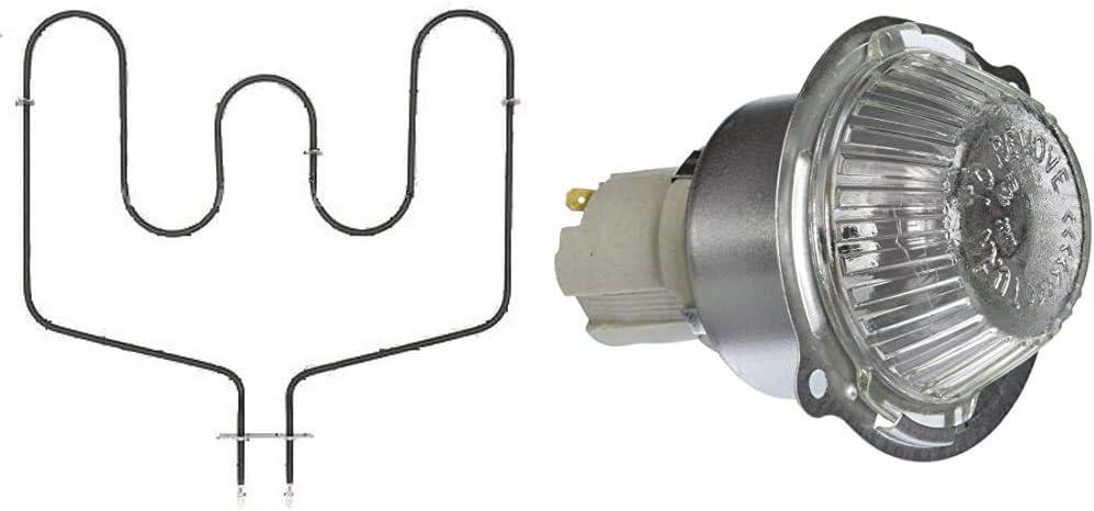 GE WB44T10018 Oven Bake Element & WB08T10002 Light Housing Range/Stove/Oven