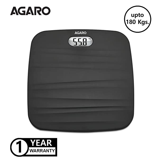 Agaro WS-502 Ultra Light Digital Personal Body Weighing Scale (White)