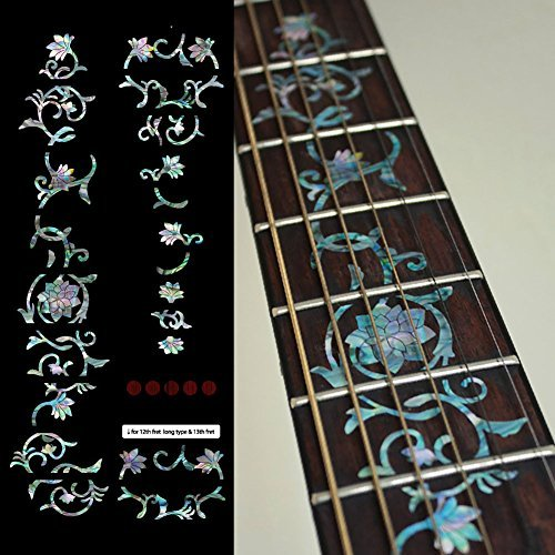 Fretboard Markers Inlay Sticker Decals for Guitar - Oriental -