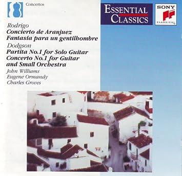 Amazon.com: John Williams - DODGSON: Guitar Concerto No.1 ...