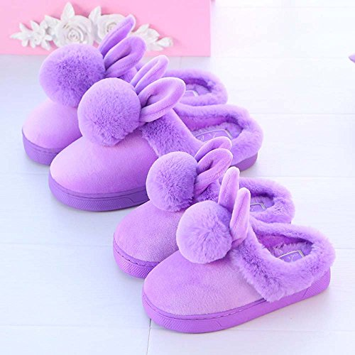 Home Children's Men's Slippers Anti Indoor Boots Shoes Warm Winter Keep Eastlion Women's Skid Pink Plush Lovely IRxwqg45A