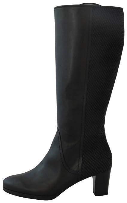 Gabor Comfort 36.598 Damen StiefelWinterstiefel (WeitschaftstiefelBoots) mit Blockabsatz Leder