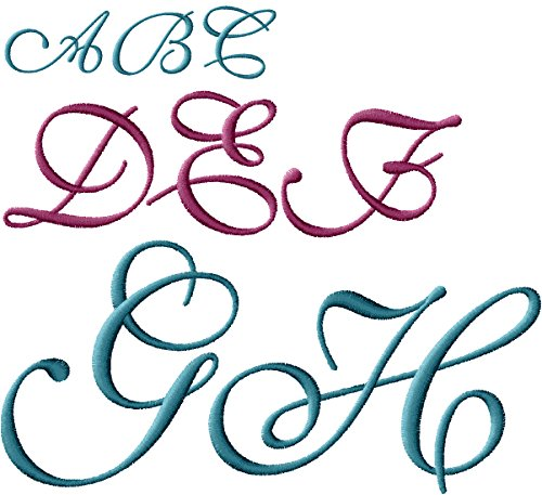 ABC Machine Embroidery Designs Set - Monogram in Three Sizes - 108 Designs - 4x4 Hoop - CD