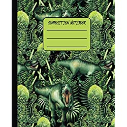 Composition Notebook: Menacing T-Rex Tyrannosaurus Blank Wide Ruled Composition Notebook for Boys, Kids, Students, Teens, College | Keep Notes ... (Dinosaur Lovers Composition Notebooks)