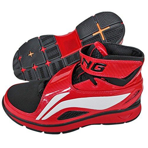 Li Ning Herren Schuhe Basketball B573 Men Rot