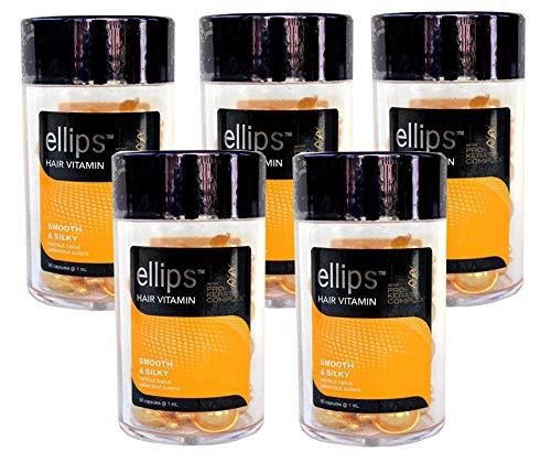手つかずの下位彫刻ellips エリップス ヘアビタミン プロケラチンコンプレックス配合 50粒入り 5本セット (イエロー) [並行輸入品]