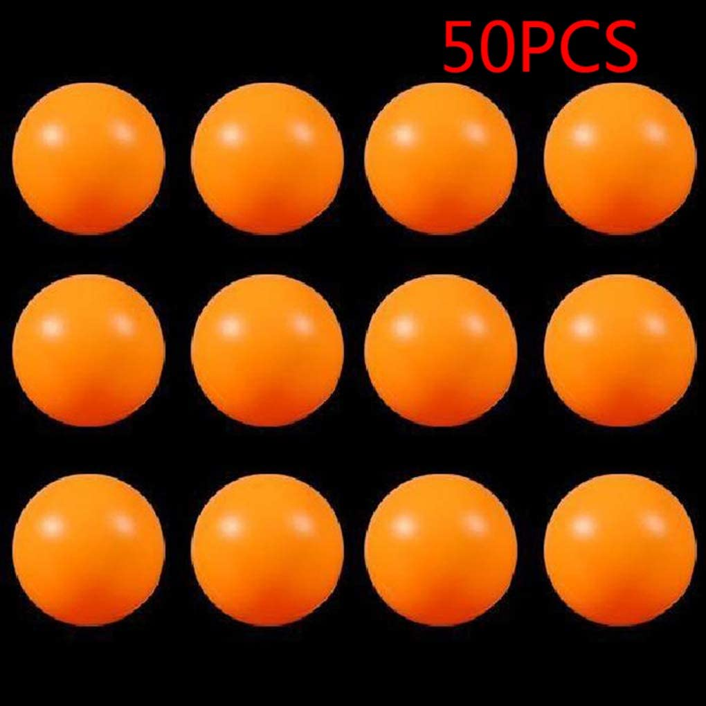 Sunlera 50pcs 40mm niños Ping Pong Balls Training Niños PE Tabla Pelota de Tenis