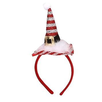 bc8c48046ca LIULIULIU🍄Adult Children Christmas Santa Claus Hat Headband Birthday Party  Supplies Girls Mom Baby Hair