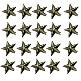 Punk Rock 100 Pieces 15mm Metal Star Studs Spots