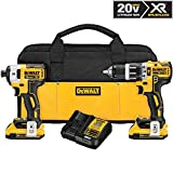 DEWALT DCK287D2 20V MAX XR Li-Ion 2.0Ah Brushless Compact Hammer drill and Impact Driver Combo Kit