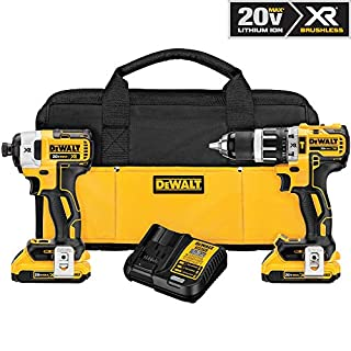 DEWALT DCK287D2 20V MAX XR Li-Ion 2.0Ah Brushless Compact Hammer Drill and Impact Driver Combo Kit (B0183RM3D8) | Amazon Products