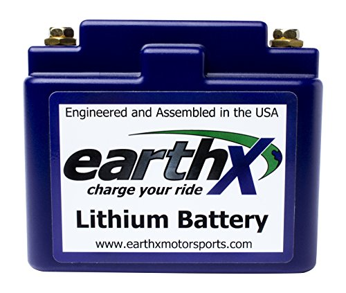 EarthX ETX12A Blue Light Weight LiFePO4 Complete Battery (with Battery Management System for Performance And Longevity)