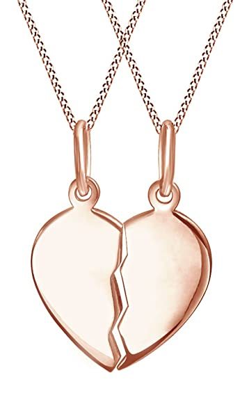 fashion fair womens half necklace set heart tag pendant