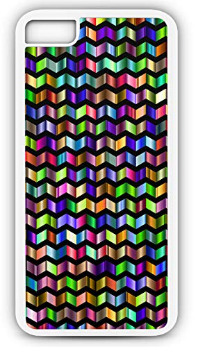iPhone 7 Plus 7+ Case Decorative Ornamental Pattern Stained Glass Look Customizable by TYD Designs in White Plastic Black Rubber Tough Case