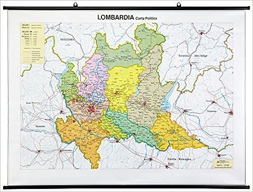 Cartina Geografica Politica Della Lombardia.Lombardia Amazon It Libri